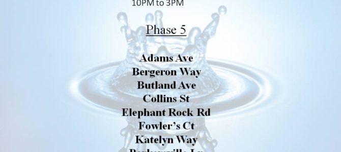 Hydrant Flushing phase 5