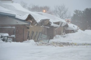 920 Lafayette Road Seabrook NH. Heavy snow caused the roof to collapse Sunday Morning